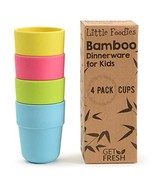 Bamboo Kids Cups, 4 Pack Set, Stackable Bamboo Drinking Cups, Bamboo Kid... - $19.52