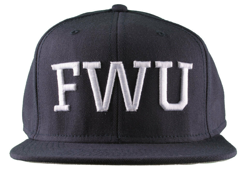 Crooks & Castles F. W. U Fu K With US Navy Scuro Snapback Baseball Cappello Nwt