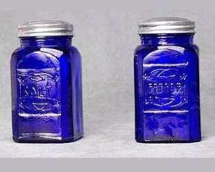 Blue Square Salt and Pepper Shakers