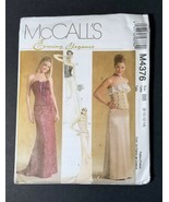 Laced Front Bustier Corset Skirt Pattern McCalls 4376 Size BB (8-10-12-14) - $9.75