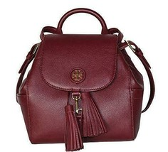 Tory Burch Whipstitch Logo MINI BACKPACK Leather Bag 48362 (Imperial Gar... - $368.00
