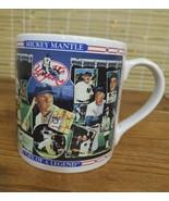 VINTAGE MICKEY MANTLE NEW YORK YANKEES JUMBO COFFEE MUG CUP COLLECTIBLE - $9.79