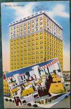 Colourpicture, Full Bleed, Linen Postcard, Hotel Floridian,  - $7.00