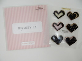 Close To My Heart Acrylix Stamp Set C1027 Heart Attack Funky Dots Swirls Lines - $9.89