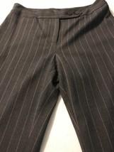 Ann Taylor Women's Pants Gray W/Pink Pinstripe Wool Lined Size 6 X 33  - $25.74