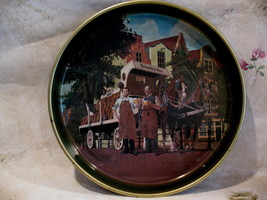 Vintage Heineken Bier Beer Souvenir Tray Horses Cart Collectible Collector  - $24.95
