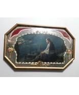 Antique Picture In Bubbled Glass - $95.00