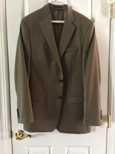 Ralph Lauren Mens 100% Wool Suit 44 Lord & Taylor Olive image 5