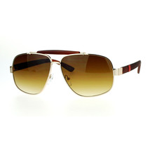 Vintage Top Bar Square Navigator Sunglasses Unisex Designer Fashion UV 400 - $10.95