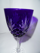 Faberge Odessa Cobalt Blue Hock Crystal Glass - $225.00