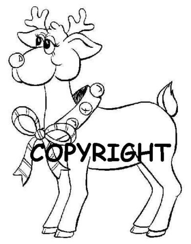 Rudolph the Reindeer NEW MOUNTED RUBBER STAMP