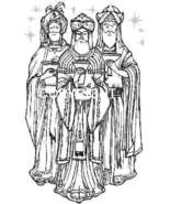 Three Kings New MOUNTED RUBBER STAMP - $6.35