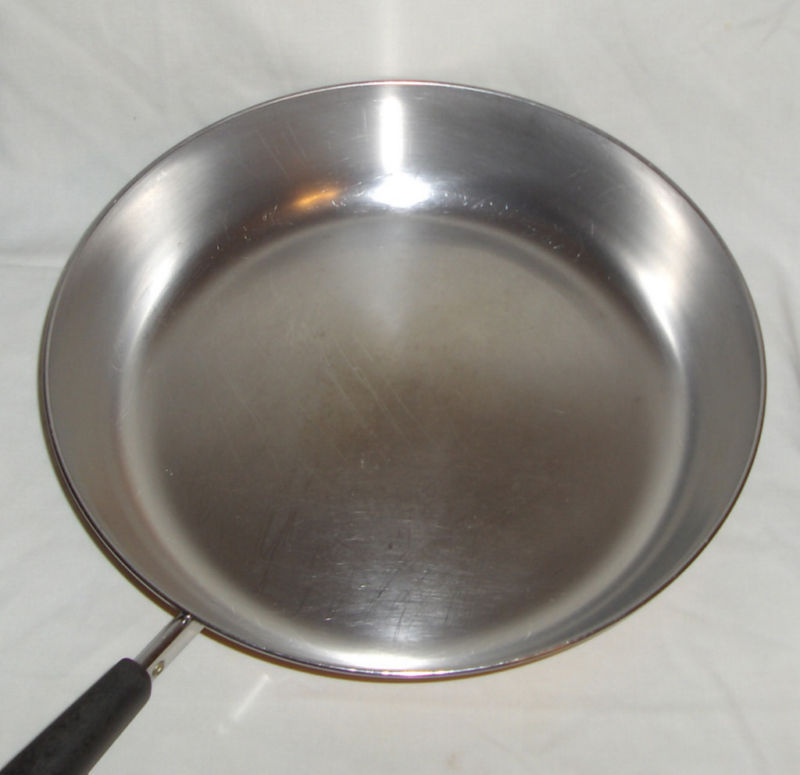 Revere Ware Copper Clad Bottom Large 12 Inch Skillet Fry