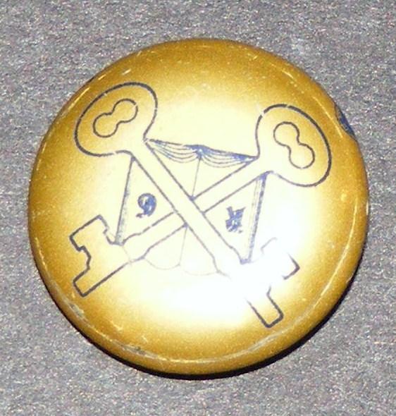 Skeleton Key Club R6 Fraternal Pin