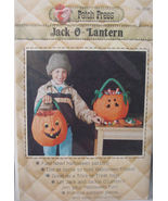 Sewing Pattern Jack O Lantern Trick or Treat Bag Boy or Girl, Halloween - $5.99