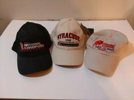 Lot of 3 - SU Syracuse sports hats basketball football cap orange - $39.59