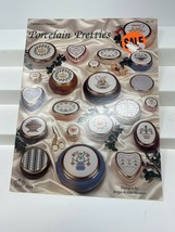 "1992 Counted Cross Stitch Pattern Book ""Porcelain Pretties"" 15 Designs 6... - $9.64"
