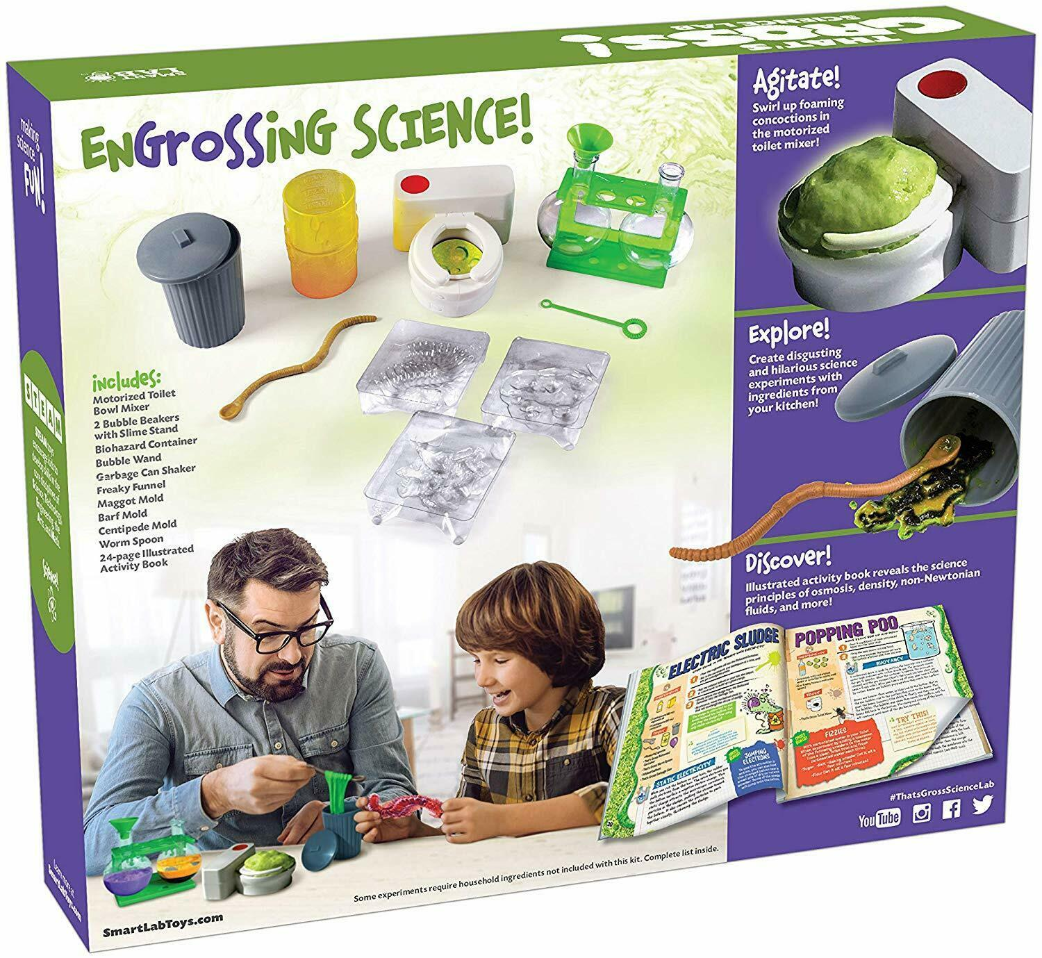 Smart Lab That's Gross Science Lab 26 Outrageous Experiments STEAM Chemistry 8+