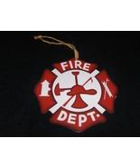 Fire Fighter Maltese Cross Hanging Ornament Metal - $2.50