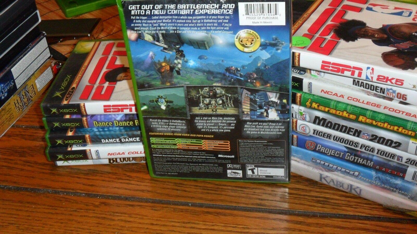 MechAssault 2: Lone Wolf (Microsoft Xbox, 2004)