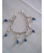 OOAK handmade blue stitch marker bracelet - $25.00