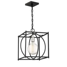 Quoizel Lighting-CSW5201EK-Crosswise - One Light Foyer  Earth Black Finish - $159.99