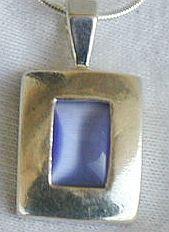 Light blue pendant .