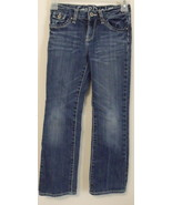 Girls Gap Denim Blue Jeans Straight Legs Size 7 - $8.00