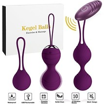 Abandship 2 in 1 Kegel Balls Kit - Massager Ben Wa Balls for Women & Sil... - $31.75