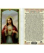 Act of Consecration Sacred Heart Jesus  - EB321 - Behold Loving Heart of... - $2.23