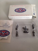 The Americana Collection Pewter Miniature early American Figurines Set of 5 - $28.31