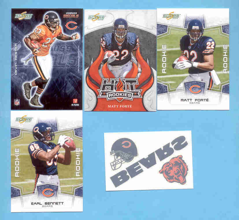 2008 Score Chicago Bears Master Football Set