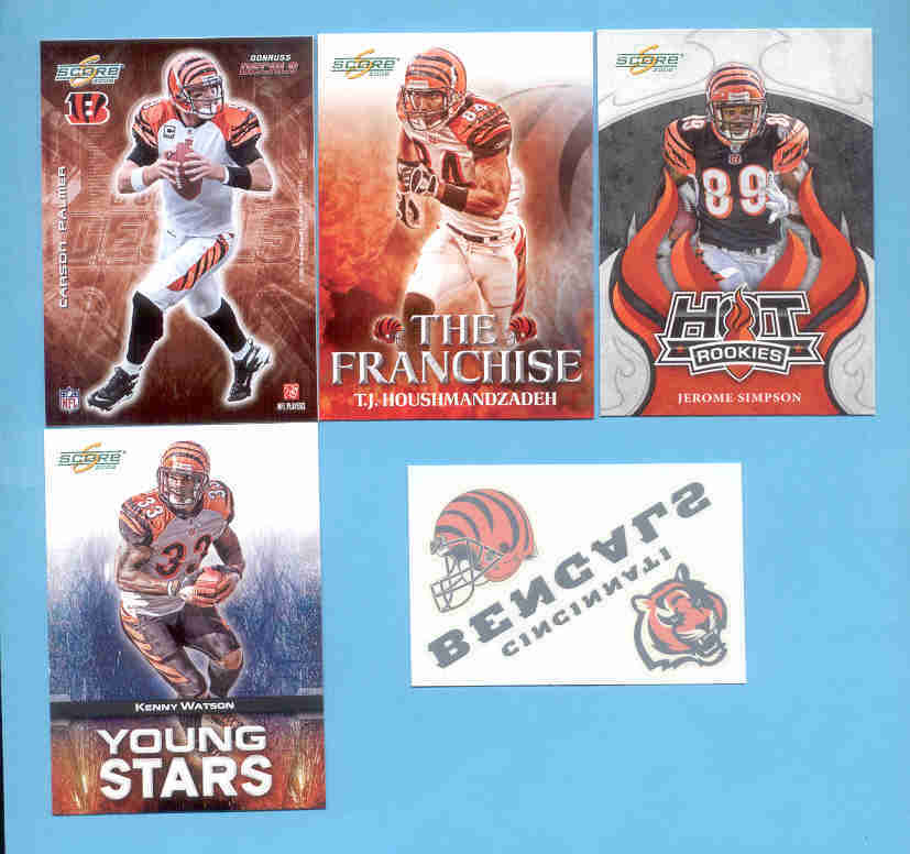 2008 Score Cincinnati Bengals Master Football Team Set