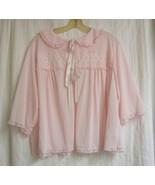 1960'S vintage Pink  Bed Jacket  sz. XL  - $18.88