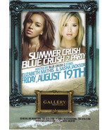 ELIZABETH MATHIS & SASHA JACKSON @ GALLERY Nightclub Las Vegas Promo Card - $1.95