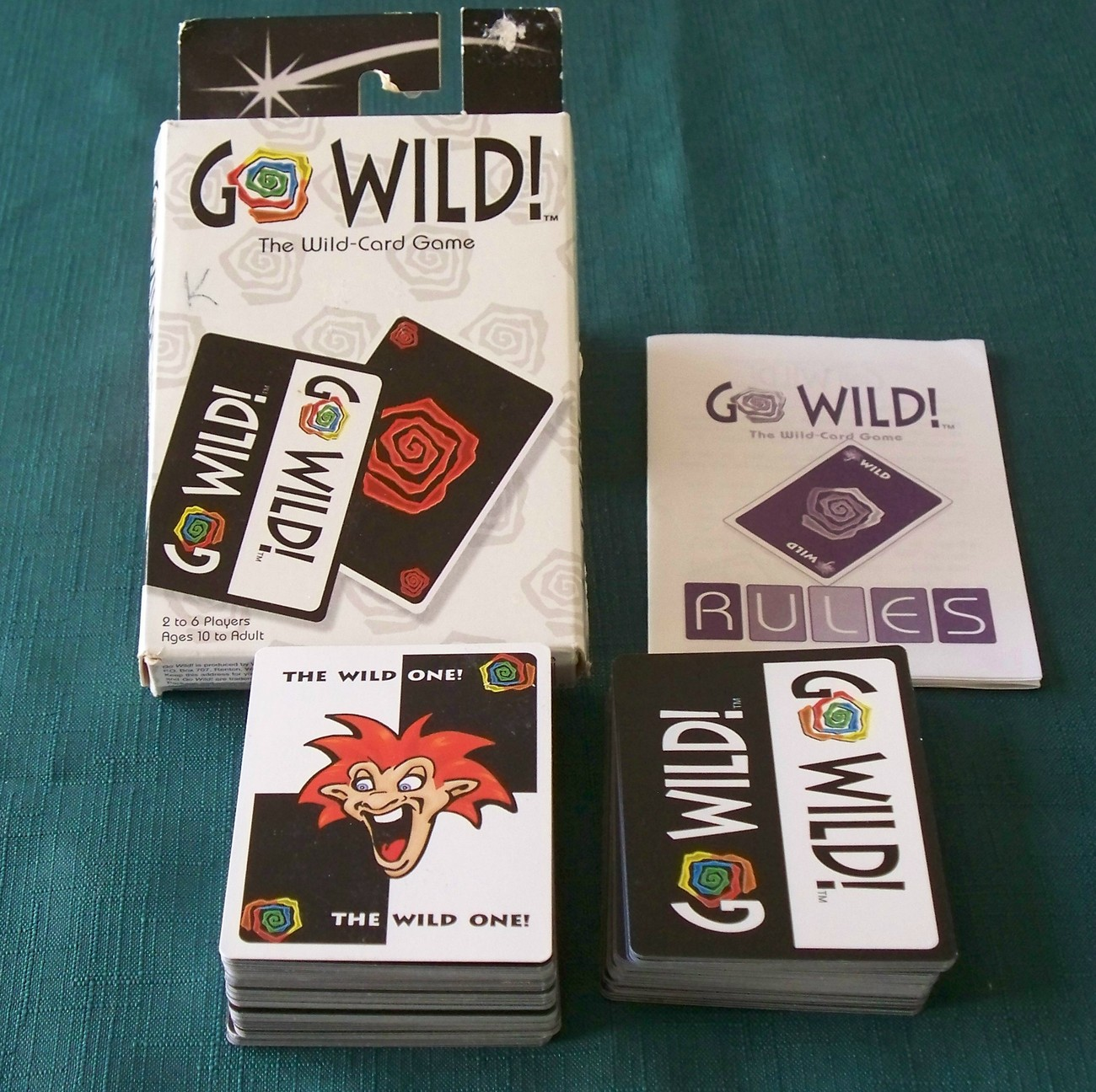 Go Wild Card Game Wizards Of The Coast 1998 Complete Clean