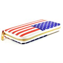 American Flag USA Red White Blue Patriotic Clutch Wallet New image 3