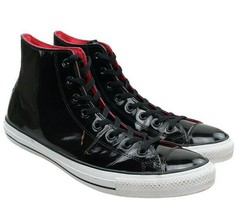 Converse All Star Chuck Taylor 111131 black patent leather High Top Shoe... - $39.55