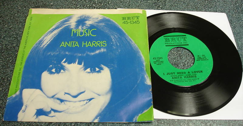 ANITA HARRIS Brut 45 PS I JUST NEED A LOVER / MUSIC