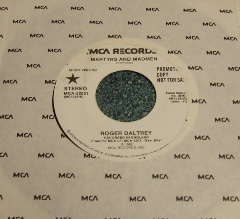 ROGER DALTREY MCA 45 MARTYRS AND MADMEN long/short WHO
