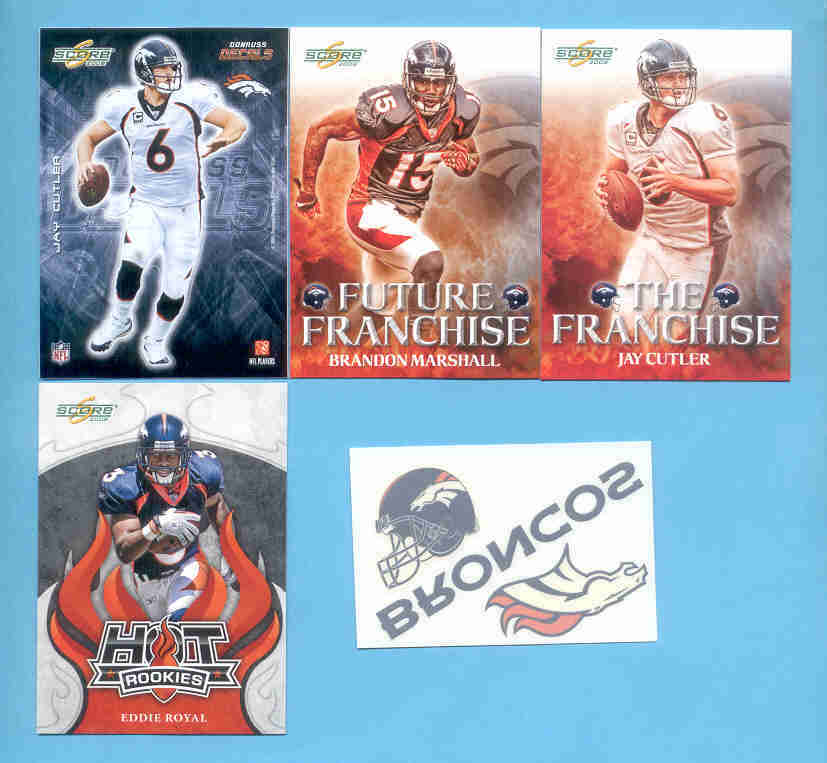2008 Score Denver Broncos Master Football Team Set