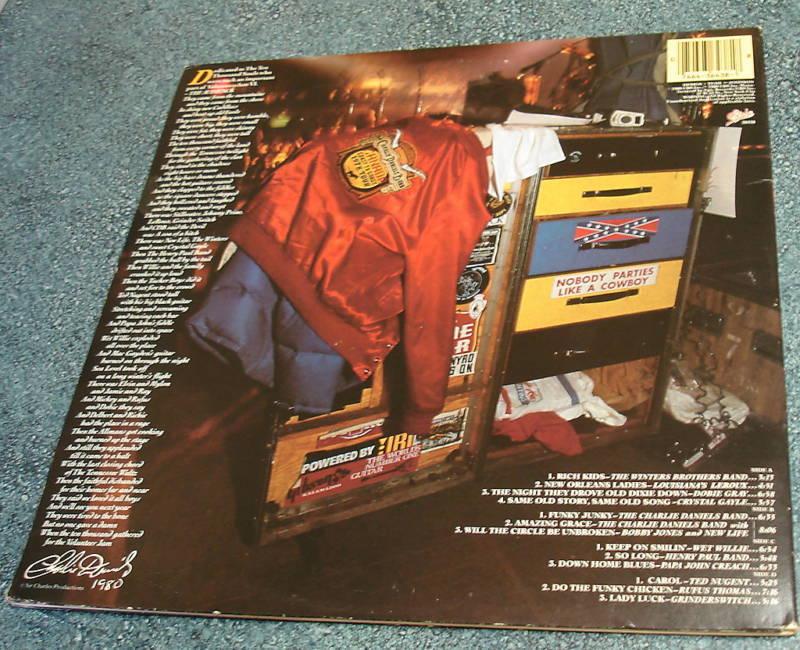 VOLUNTEER JAM VI 1980 2 LP Charlie Daniels Ted Nugent Grinderswitch Rufus Thomas