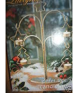 Large Centerpiece Table Christmas Tree Star Candle Holder Metalwork Glit... - $15.65