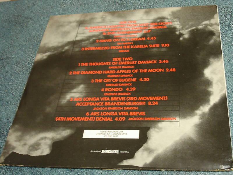 The NICE Immediate LP GREATEST HITS Keith Emerson ELP