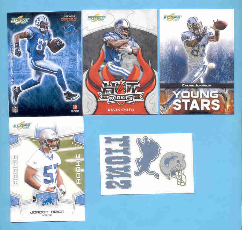 2008 Score Detroit Lions Master Football Set