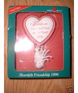 HEARTFELT FRIENDSHIP 1996 FRIEND CHRISTMAS ORNA... - $4.99
