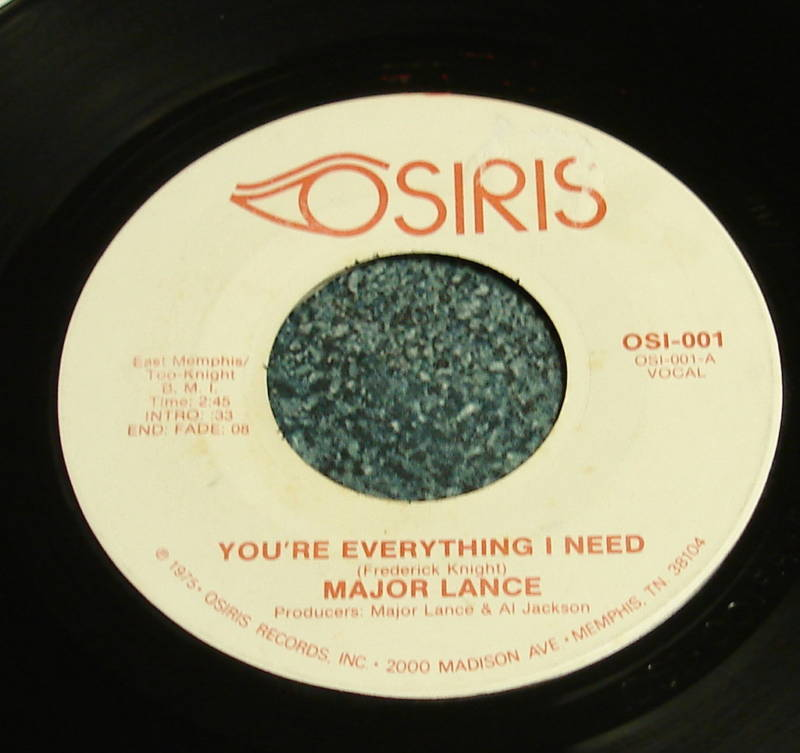 MAJOR LANCE Osi 45 YOU'RE EVERYTHING I NEED Modern Soul