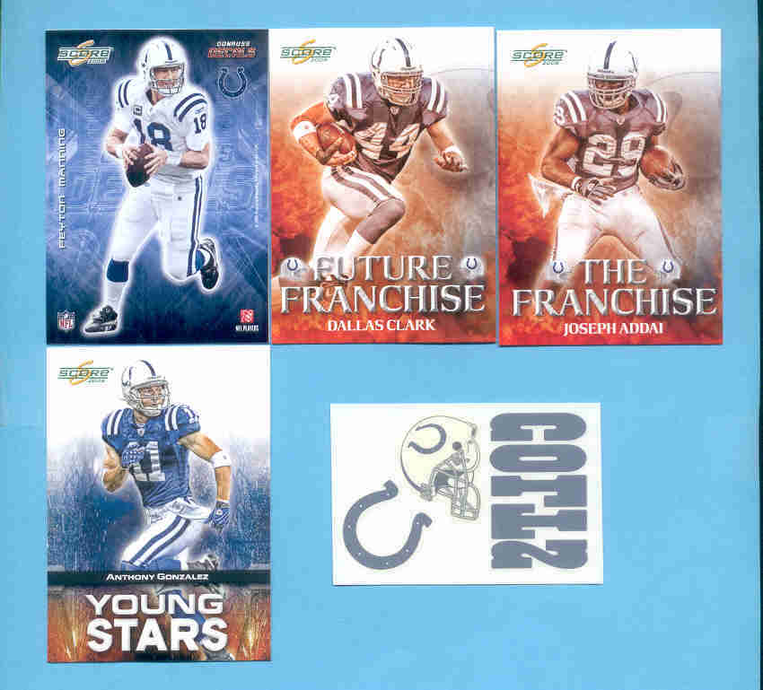 2008 Score Indianapolis Colts Master Football Team Set