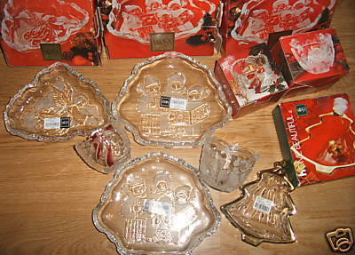 LOT OF 6 MIKASA GLASS WARE CANDLE HOLDER SWEET DISH NEW
