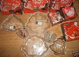 LOT OF 6 MIKASA GLASS WARE CANDLE HOLDER SWEET DISH NEW - $39.99